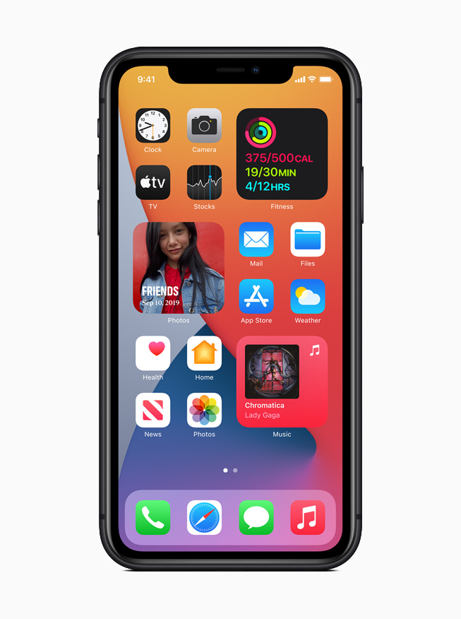iOS 14 on iPhone